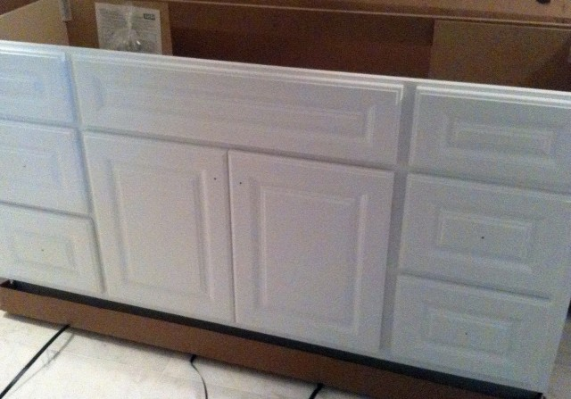 Painting Bathroom Vanity White