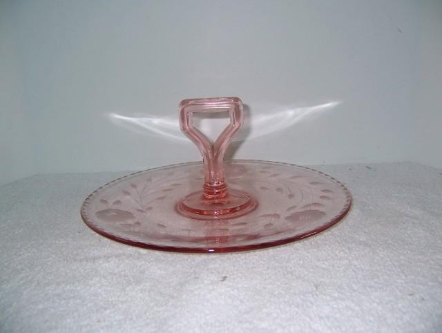 Pink Depression Glass Vanity Tray