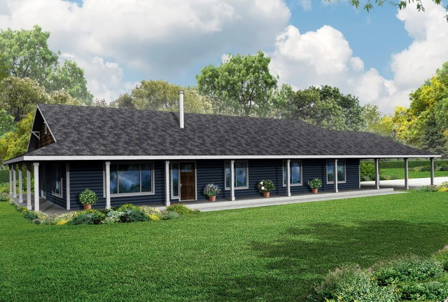 Ranch House With Porch Wrap Around