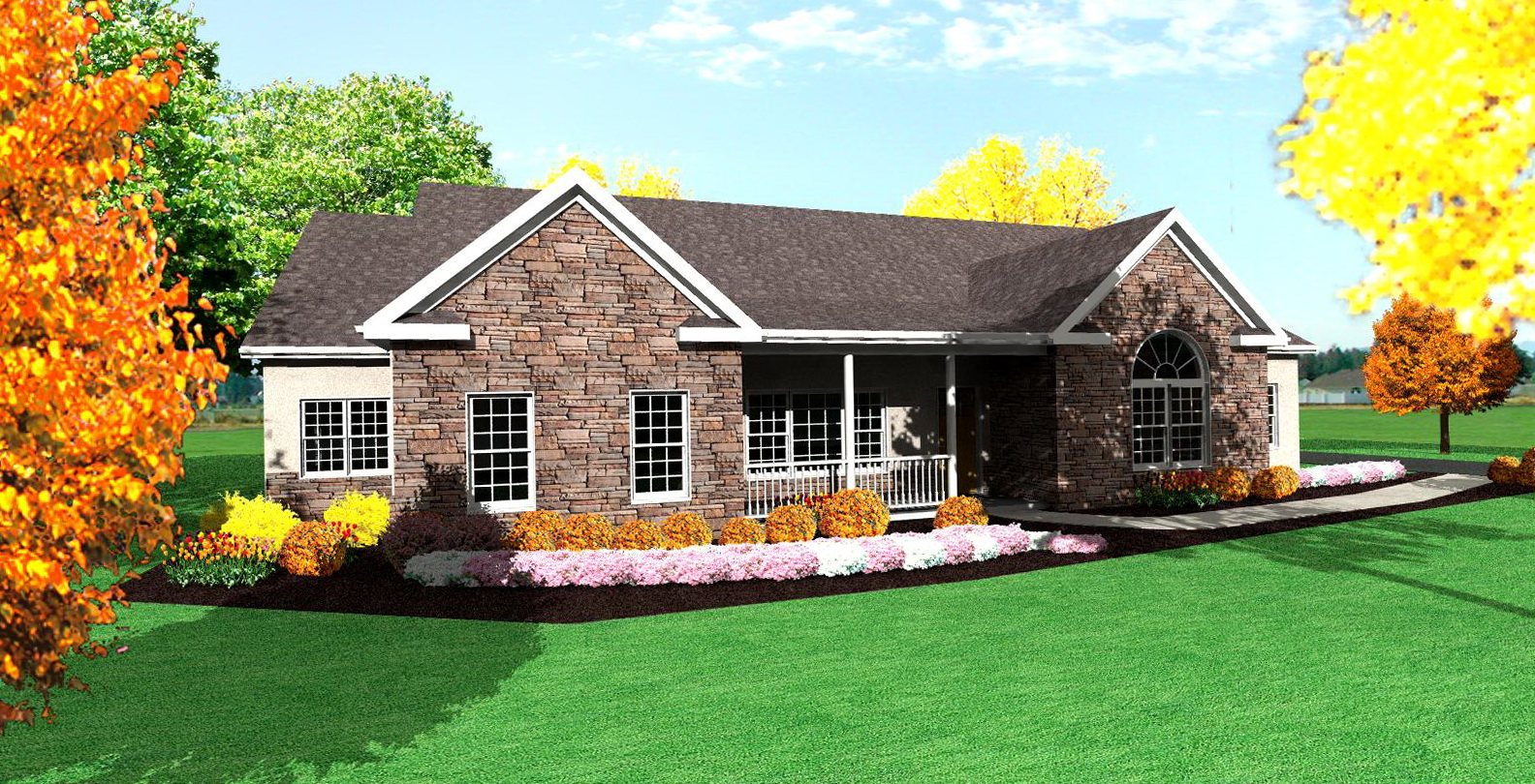 Ranch style house plans with front porch home design ideas for Ranch style front porch