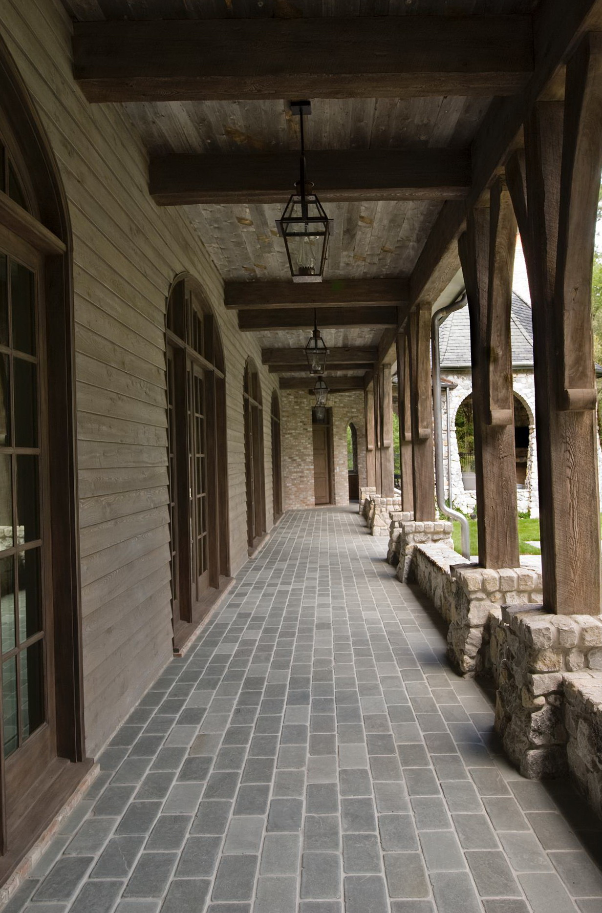 Rustic front porch columns home design ideas for Rustic porch columns