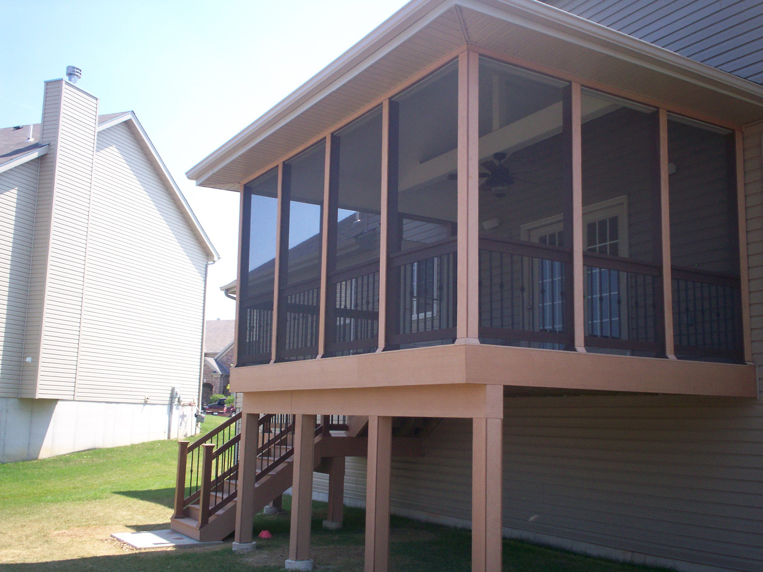 screen screened deck mo benefits porch of converting archadeck the how under to in louis a st by