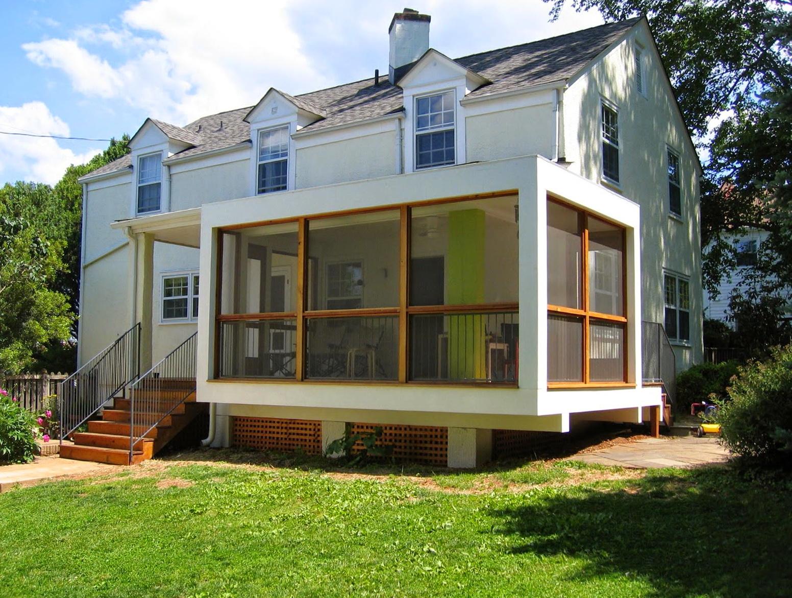 Screened back porch designs home design ideas for Screened in back porch designs