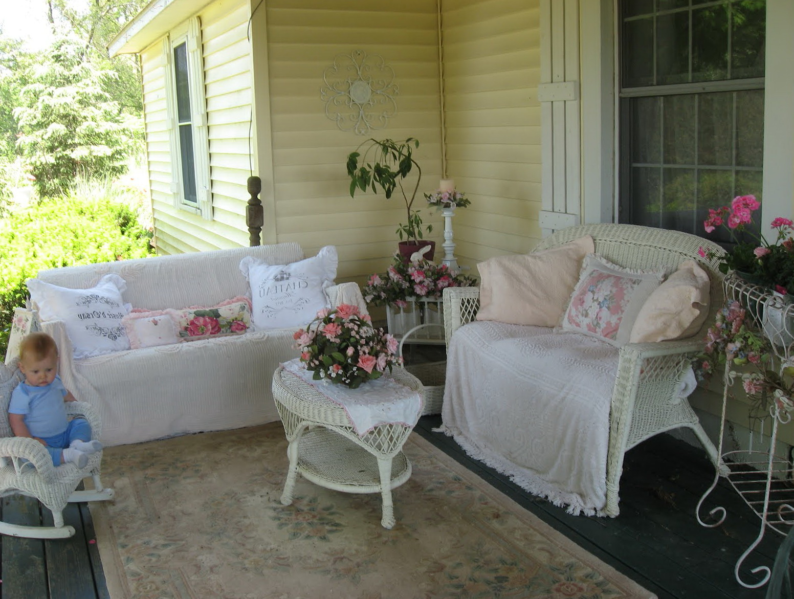 Shabby Chic Front Porch Home Design Ideas