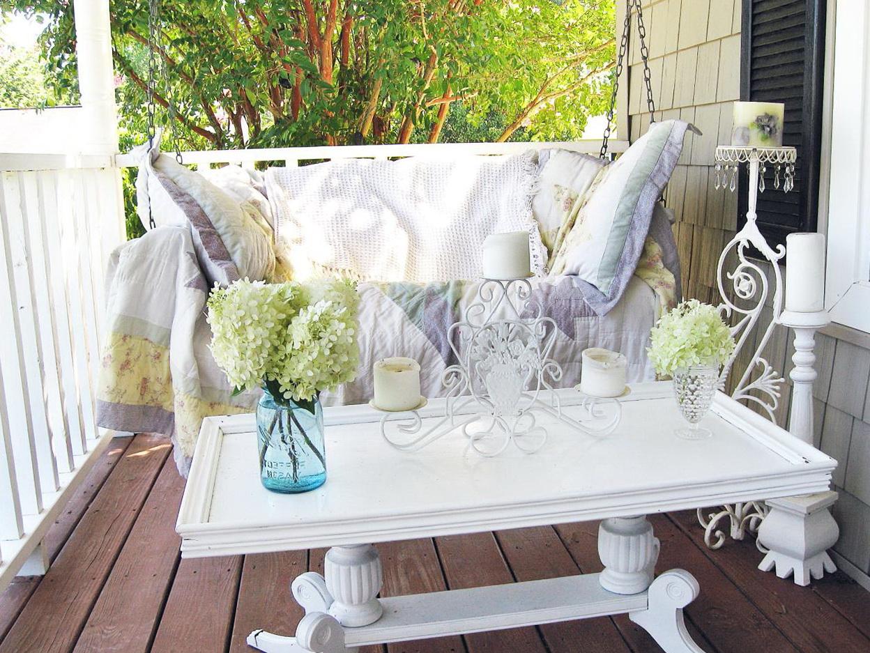 Shabby chic porch decorating ideas home design ideas for Shabby chic porch ideas