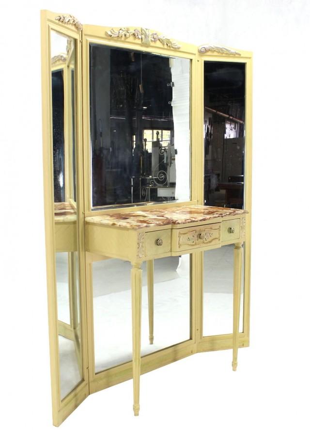 tri fold mirror vanity set. Tri Fold Mirror Vanity Set Vintage  Home Design Ideas