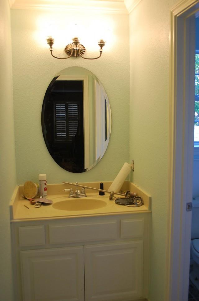 Vanity Light Over Oval Mirror