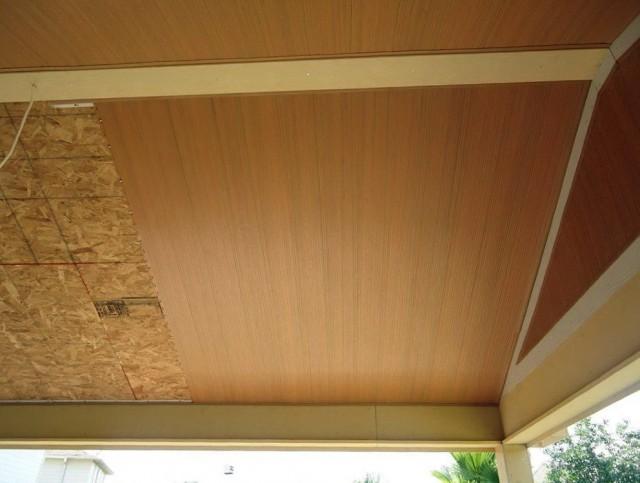 Vinyl Beadboard Porch Ceiling Installation