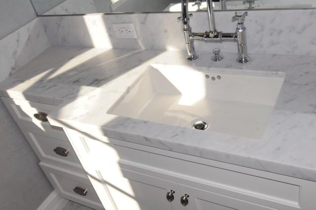 White Granite Bathroom Vanity Top