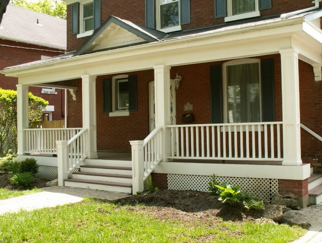 White Railing For Porch