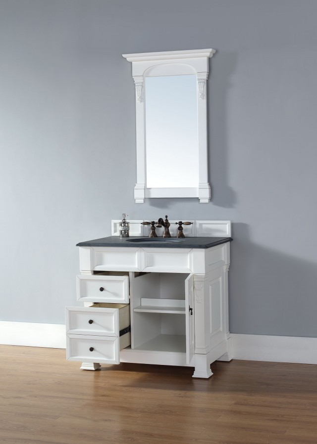 White Vanity With Drawers
