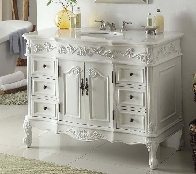 White Vintage Bathroom Vanities - Vintage Style Bathroom Vanities Home Design Ideas