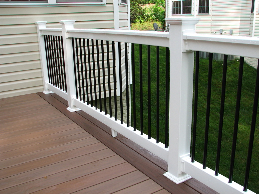 White Vinyl Porch Railing Kits Home Design Ideas