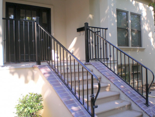 Wrought Iron Porch Posts And Rail