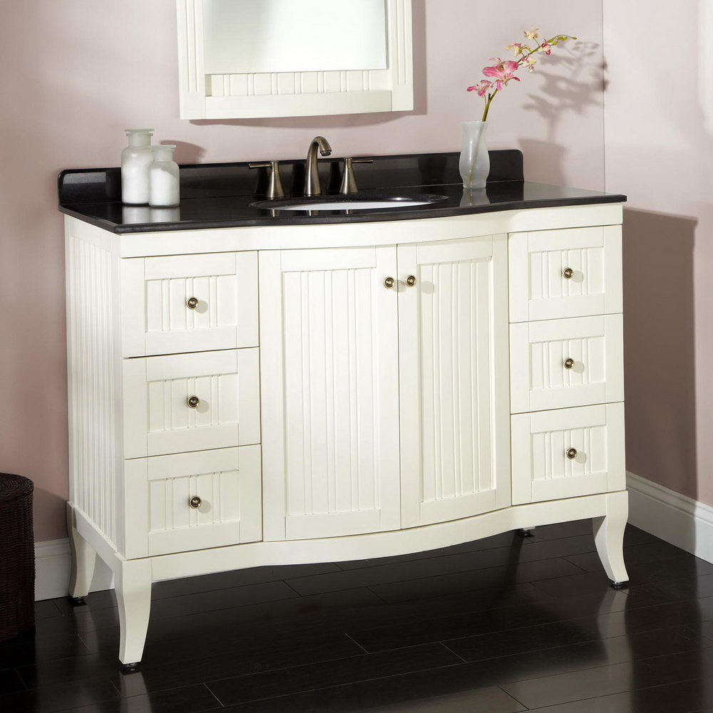 48 White Bathroom Vanity Cabinet