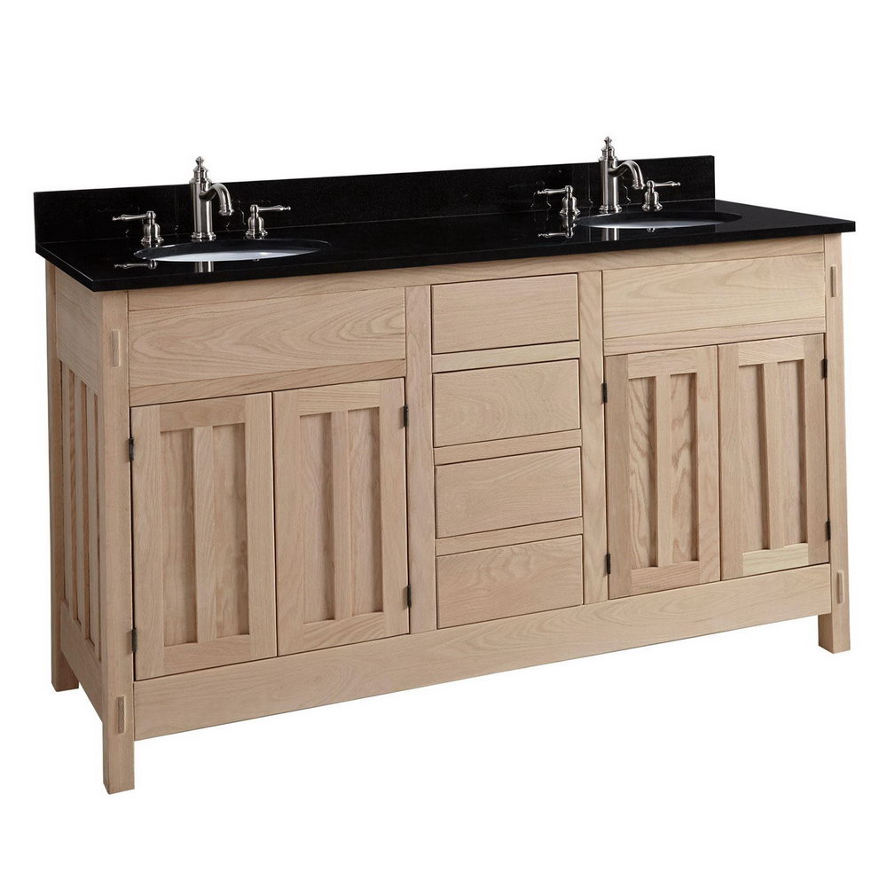 60 double sink bathroom vanity cabinet home design ideas - Double sink bathroom vanity with hutch ...
