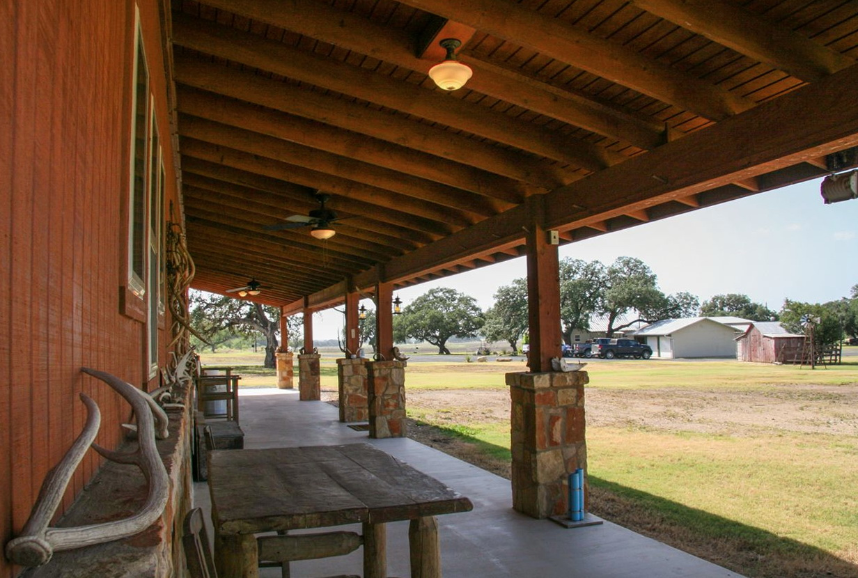 Back porch ranch texas home design ideas for Back porch ranch