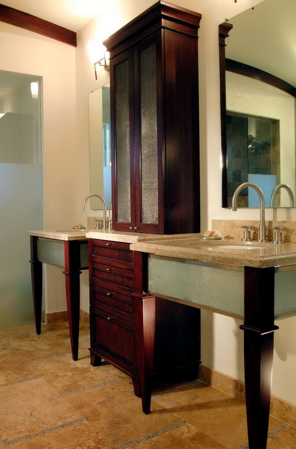 Bathroom Vanity With Storage Tower