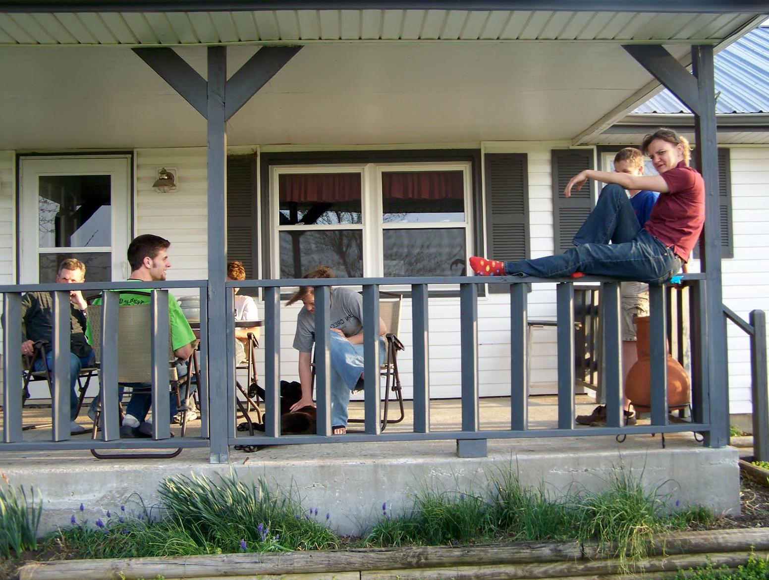 Black Front Porch Railing