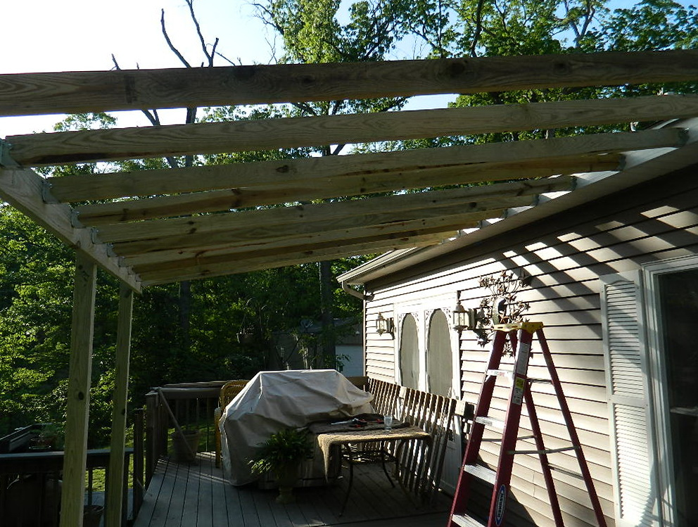 Build Porch Roof Frame