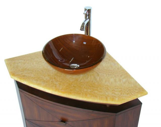 Corner Double Bathroom Vanity