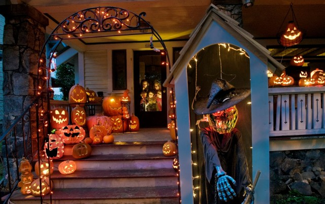 Diy Halloween Porch Light Covers