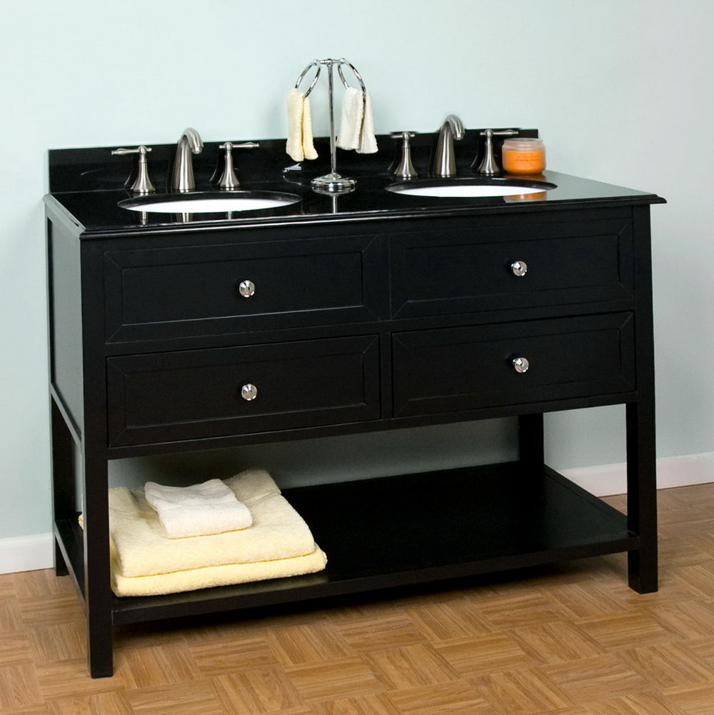 Double Vanity Sinks 48 Inches