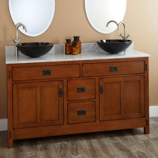 Double Vanity With Vessel Sinks