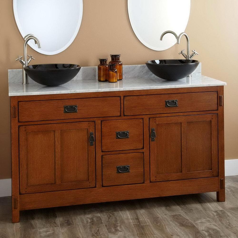 Double Vanity With Vessel Sinks