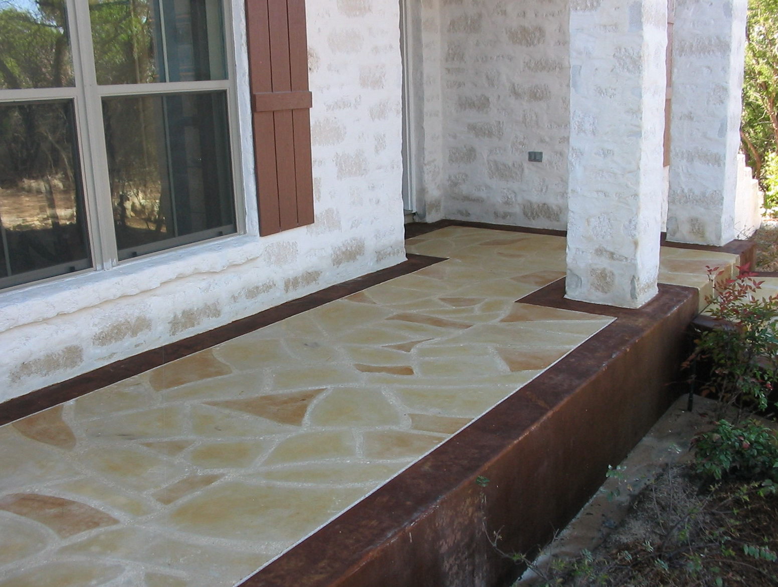 Flagstone Front Porch