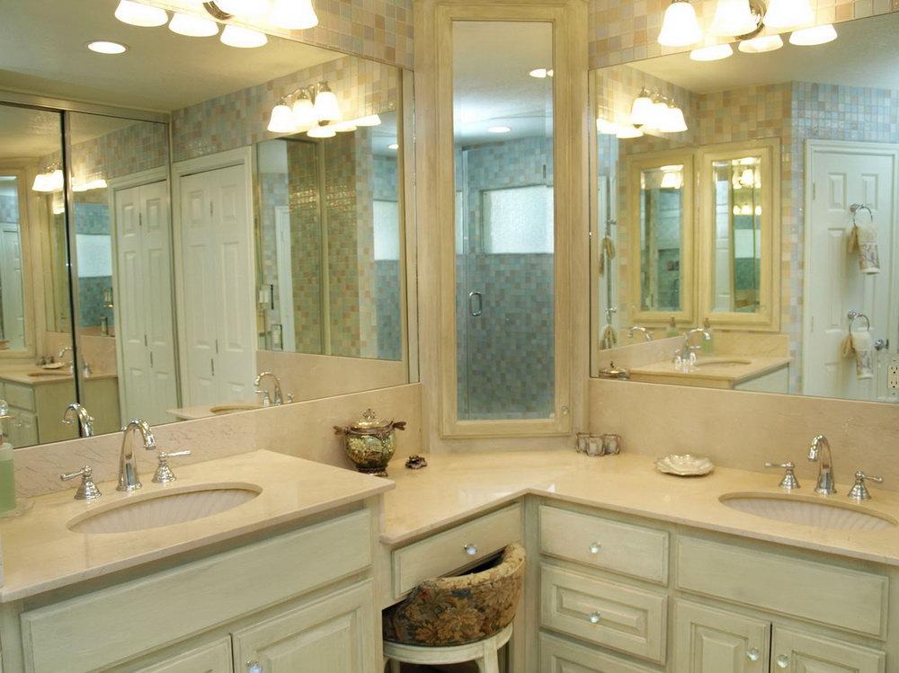 Master Bathroom Corner Vanity