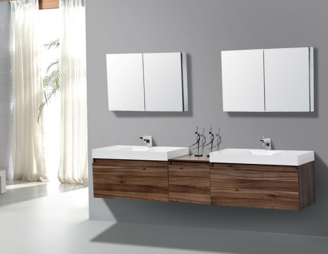Modern Double Vanity Bathroom