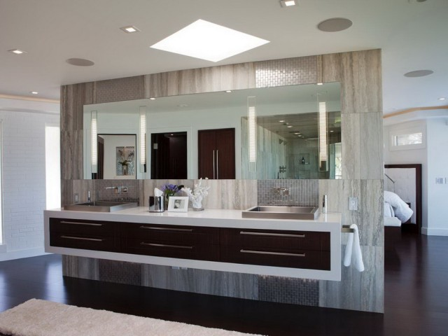 Modern Floating Double Vanity