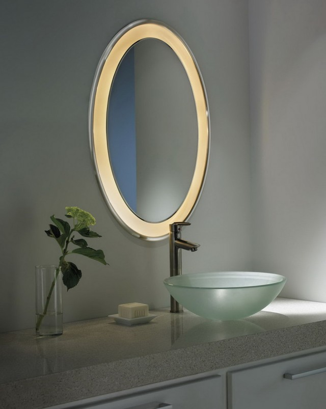 Oval Vanity Mirror With Lights