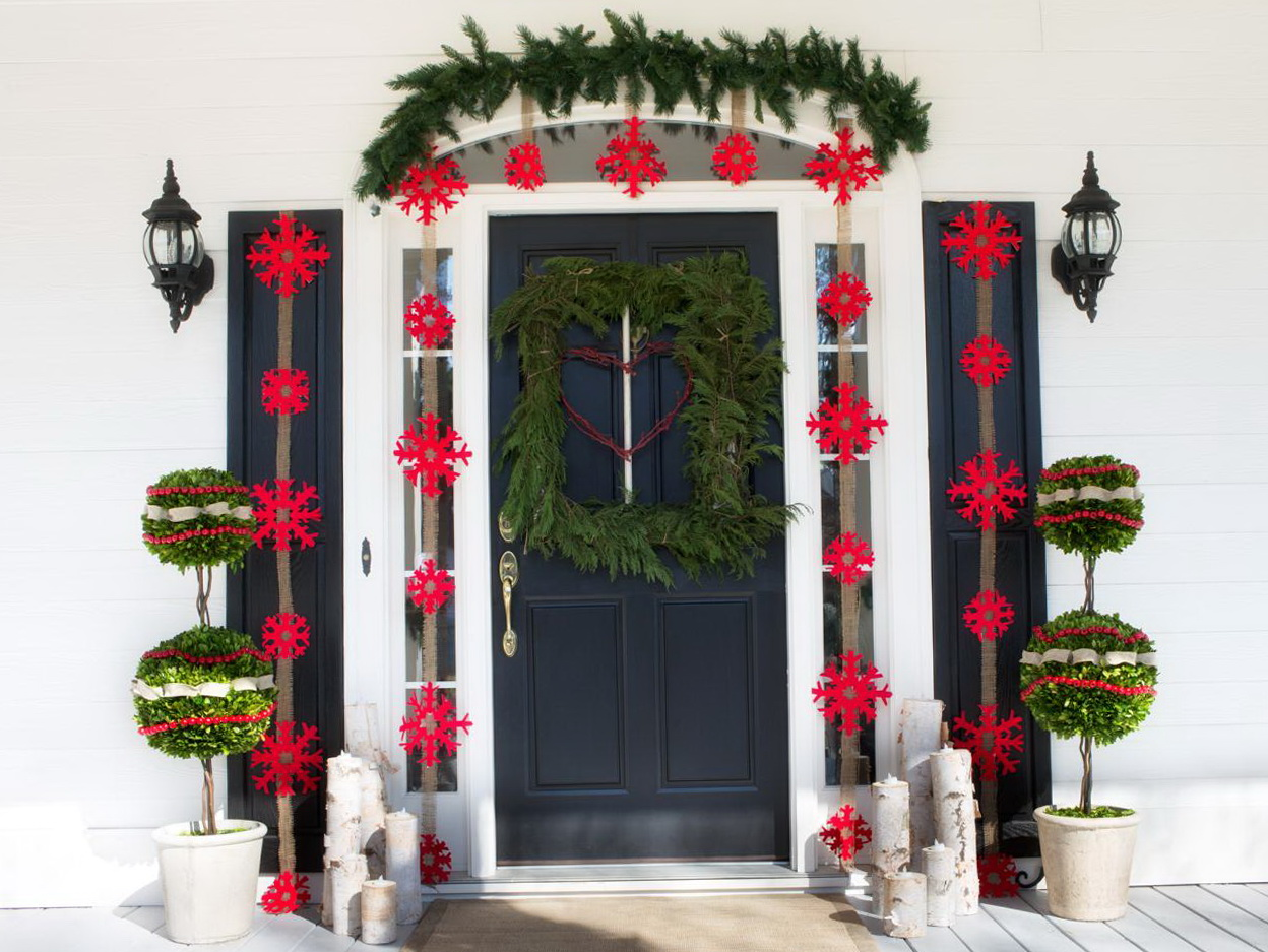 Porch Decorations For Christmas Natural