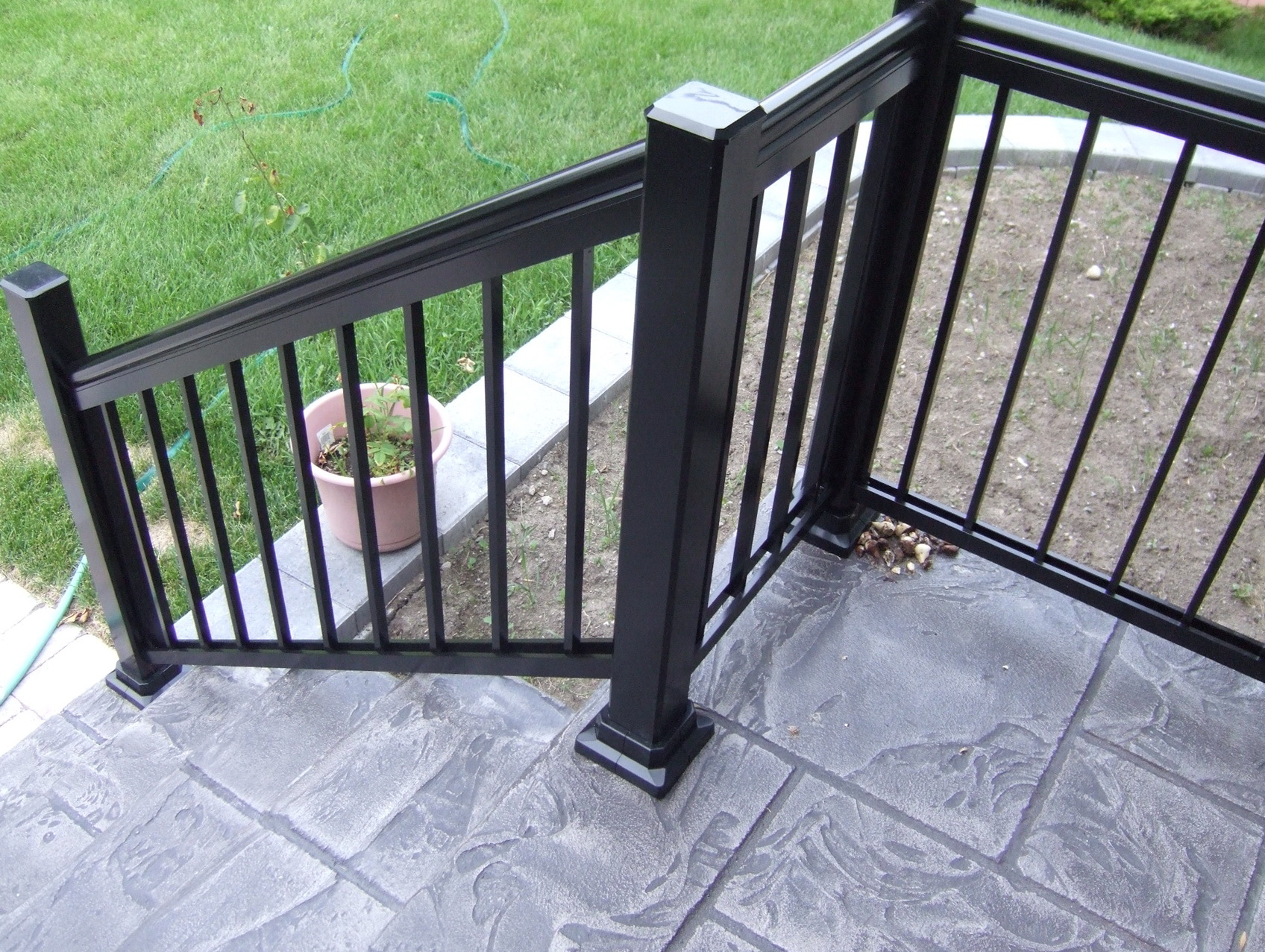 Porch Railing Installation Concrete