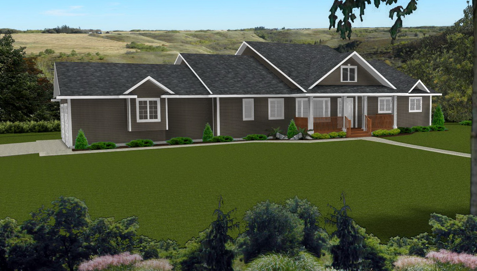 Ranch Style House Plans With Covered Porch