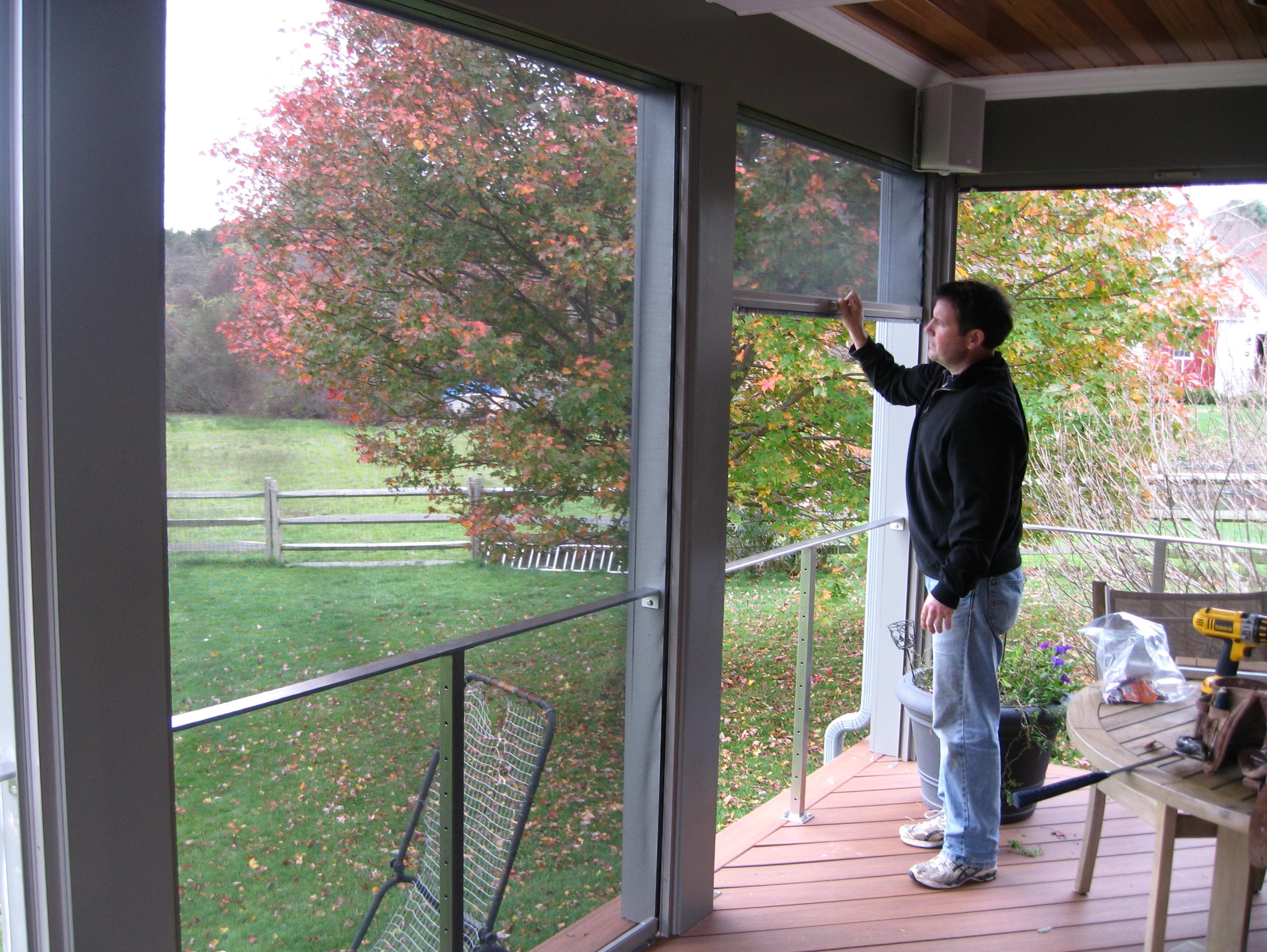Retractable Porch Screen Panels