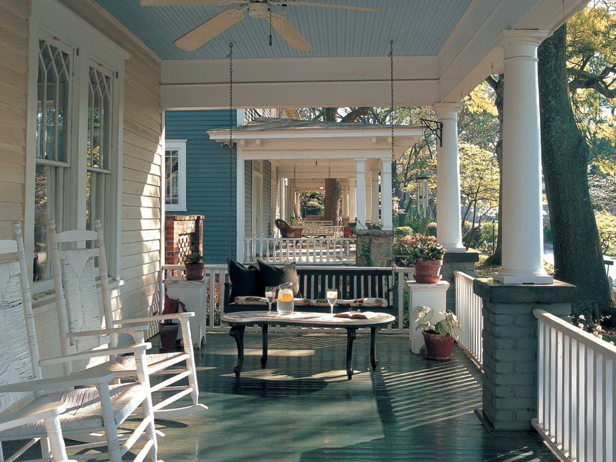 Rocking Chair Front Porch Design Ideas