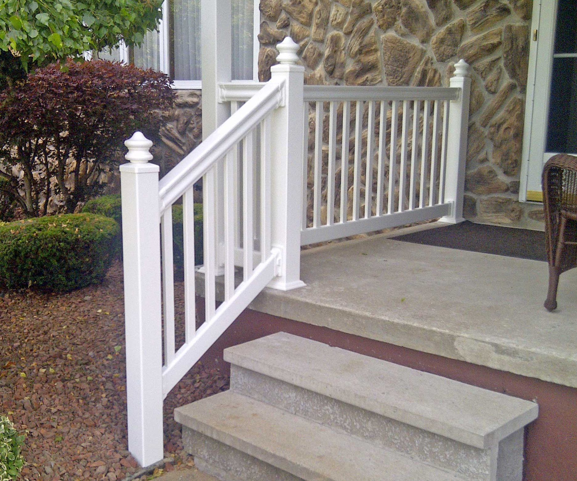 Front porch railings lowes full size of railing installation easy deck stair post white vinyl - Vinyl deck railing lowes ...