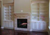 Custom Bookshelves Around Fireplace