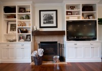 Entertainment Center With Fireplace And Bookshelves