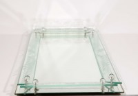 Glass Vanity Tray Dresser