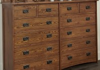 Mission Style Dresser With Mirror
