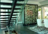 Modern Glass Wine Cellar