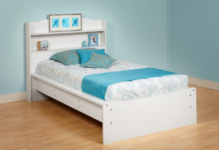 Permalink to Platform Bed With Bookcase Headboard