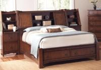 Queen Bed With Bookshelf Headboard