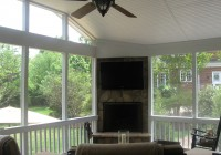 Screened In Porches With Fireplace