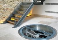 Spiral Staircase Wine Cellar