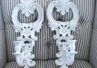 White Wall Sconce Candle Holders